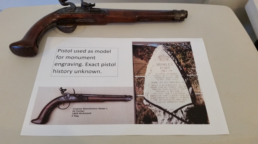 Pistol used at Hinkle Fort